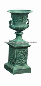 Charmant Antique Garden Cast Iron Flower Pots /planter Pot /garden Urns