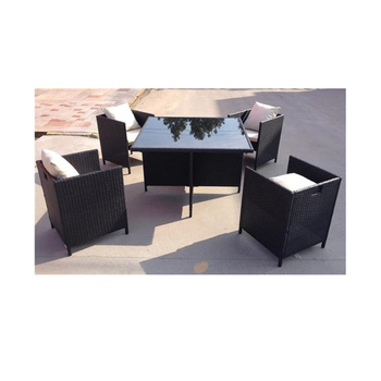 5 Seater Outdoor Rattan Cube Set Dining Set Kd Rattan Cube Table And