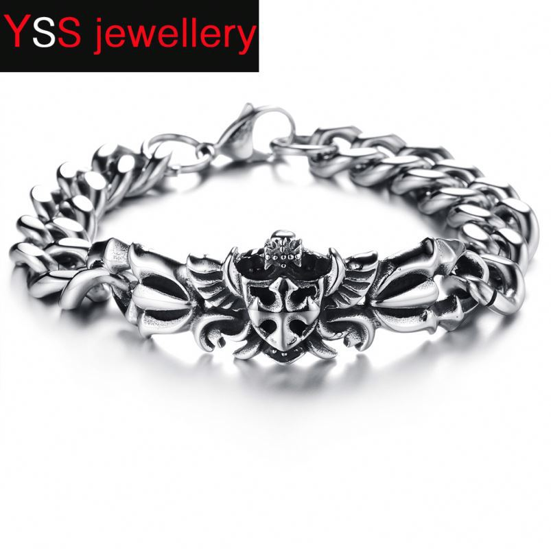 New 2017Jewelry Black Men cz nail stainless steel lock latest design bangles and bracelet
