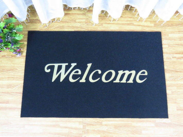 Pvc Outdoor And Indoor Cushion Door Mat With Firm Backing