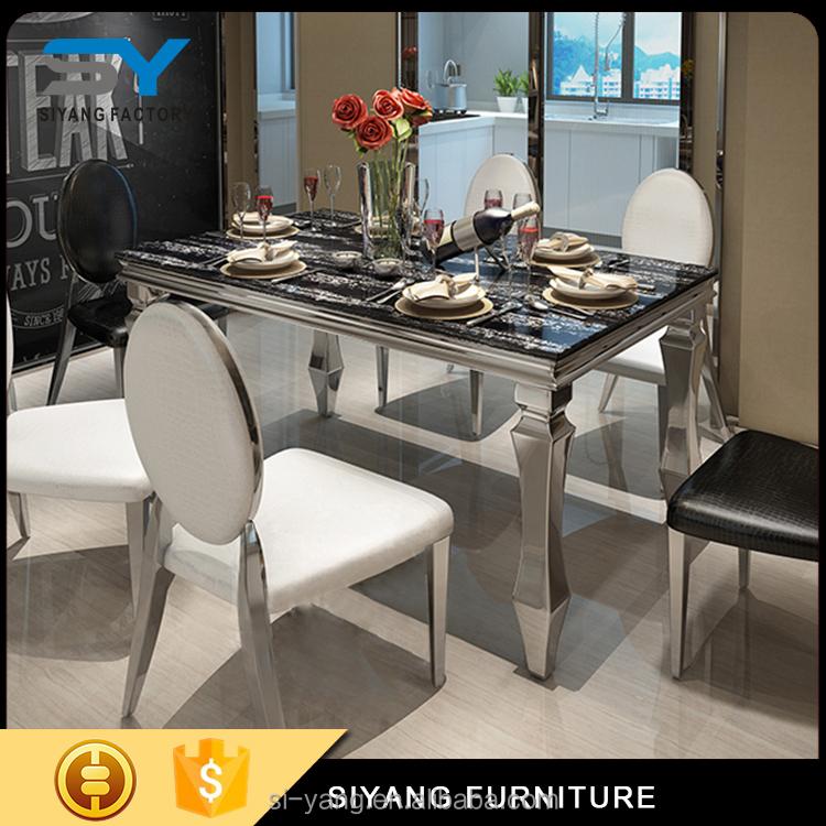 marmor edelstahl esstisch und stuhl f r verkauf gr e 150 90 ct004 metalltisch produkt id. Black Bedroom Furniture Sets. Home Design Ideas