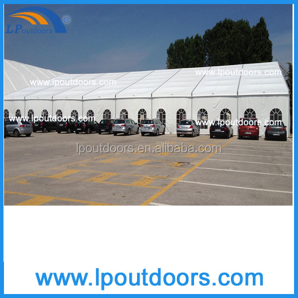 Outdoor large clear span marquee storage tent for event