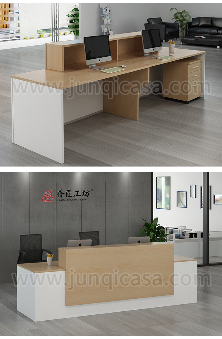 Morden salon reception desk wood office l shaped reception desk small front reception desk counter