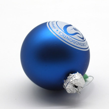 Wholesale Round Xmas Decorative Christmas Tree ornaments Glass blue christmas ball