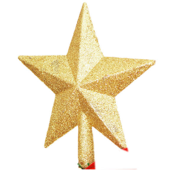 Wholesale Stocked golden color Christmas tree star