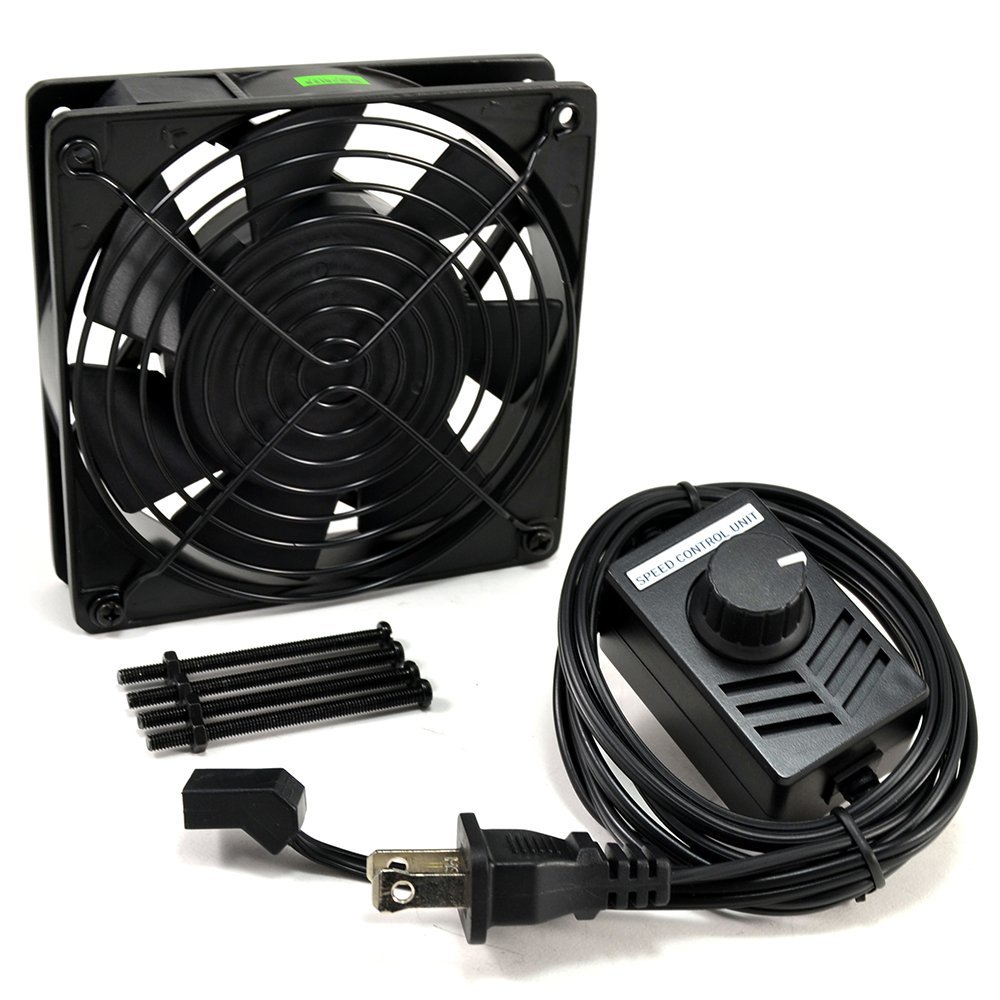 Get Quotations Ac Infinity Ai 120scx Sd Control Fan Kit For Cabinet Cooling Single 120mm