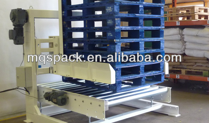 pallet dispenser for robot palletizer system