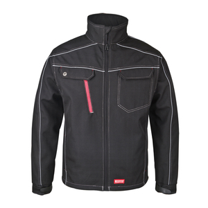 Plain black softshell jacket men work uniform jackets