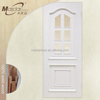 Kerala Half Glass Interior White Oak Wood Door Price Buy Kerala