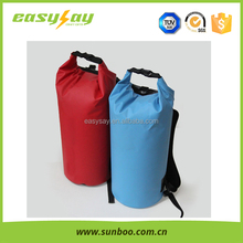 Newest design pvc tarpaulin waterproof dry bag backpack with strap