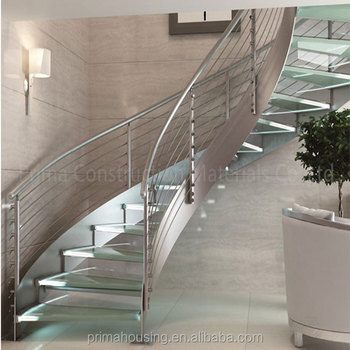 Luxury Stainless Steel Round Stairs/commercial Metal Stairs
