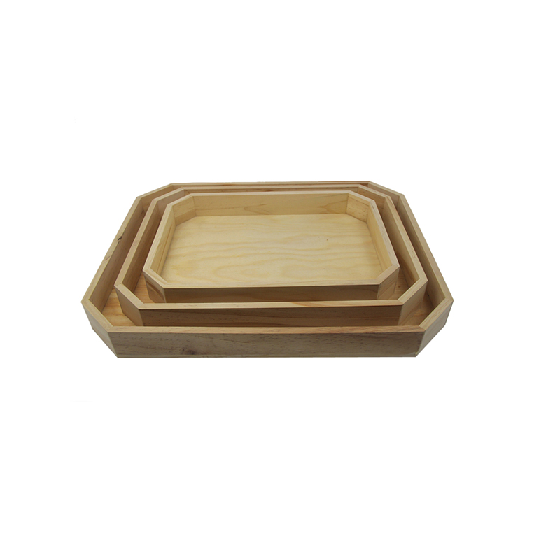 Buy square wooden tray with handles online