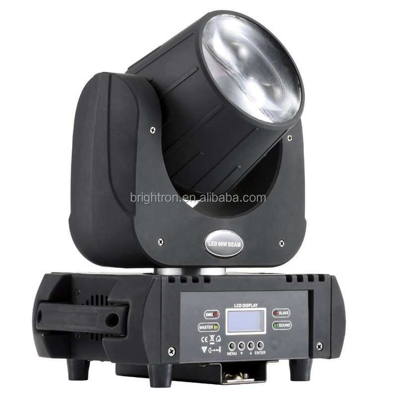 6/15CH 3 Facet Prism Rotating Gobo 60 watt Mini Spot 60w LED Moving Head