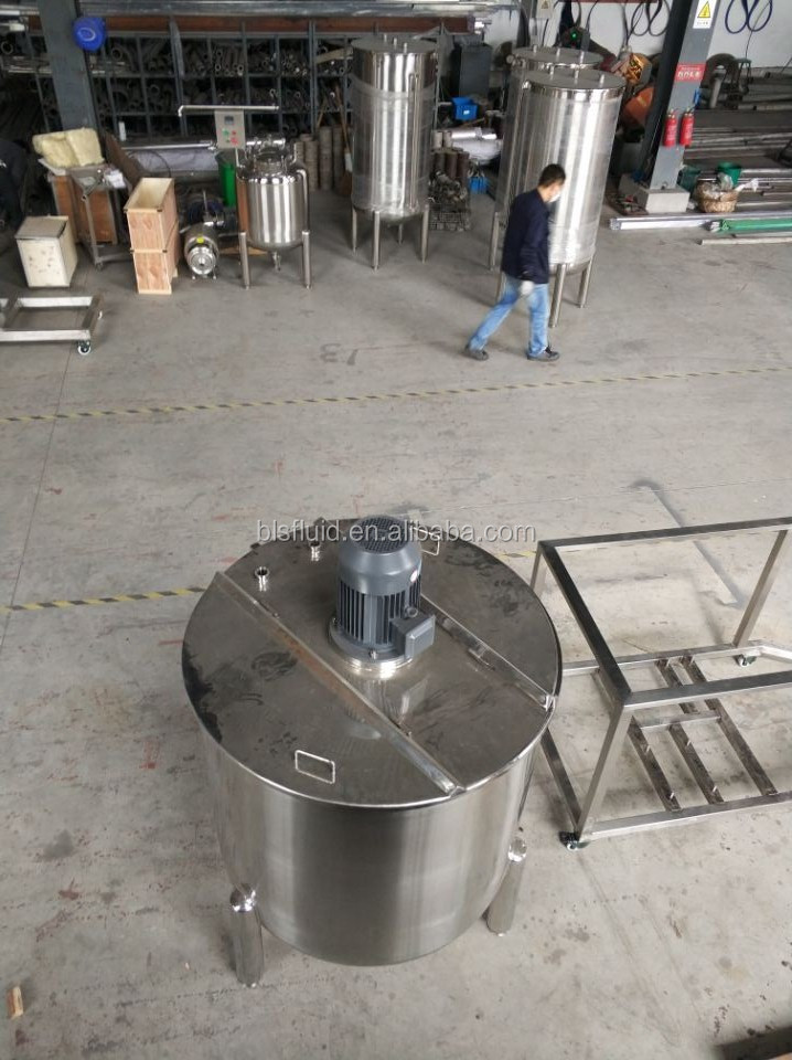 2018 hot sale single layer liquid emulsifing tank with high shear mixer