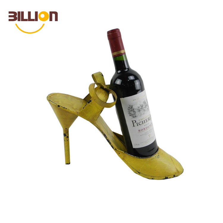 High Heel Shoe Single Bottle Wine Holder, Stylish Conversation Starter Wine Rack