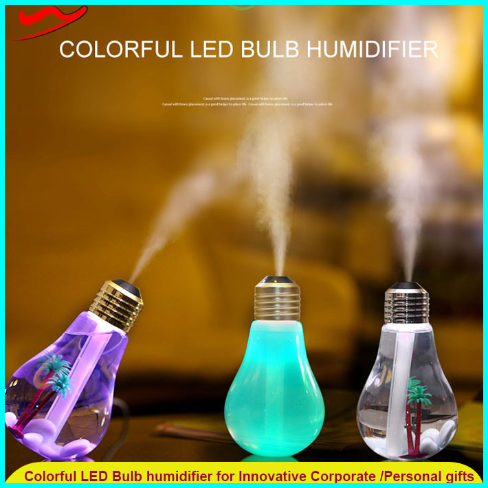 Colorful Mini bulb humidifier /2016 new usb ultrasonic personal natural aroma flower diffuser