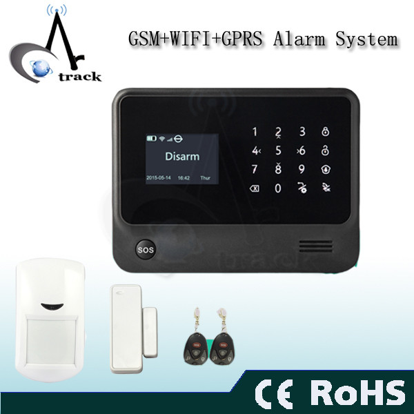 Smart Home wireless gsm wifi burglar alarm system host mobile phone control home security alarm system