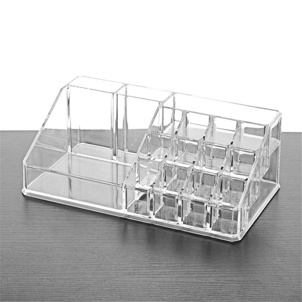 ZQ Cosmetics/Jewelry Desktop transparent plastic acrylic cosmetic case,small items storage box,multi-grid