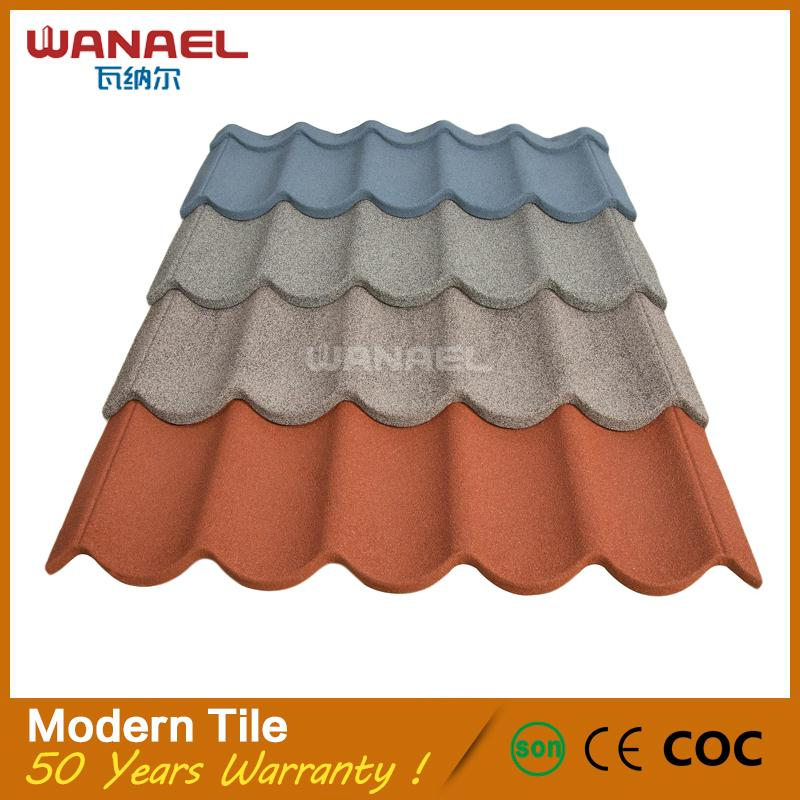 Wanael Low Cost House Construction Material/stone Coated Metal Roof Tile/construction  Materials Price