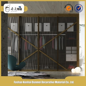 Aluminum Frame Glass Sliding Wardrobe Door With Best Design Made In