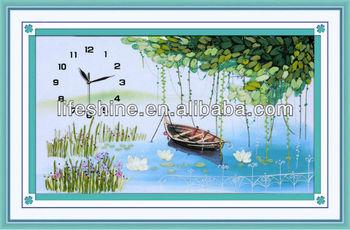 Clock Silk Ribbon Embroidery Fabric Wall Hangings Kit Craft - Buy Silk  Ribbon Embroidery,Ribbon Embroidery Fabric,Ribbon Embroidery Product on