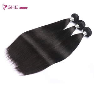 wholesale silk straight 100% peruvian virgin hair crochet braids with human hair