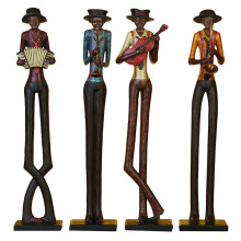 ขายร้อน Handmade jazz band figurines