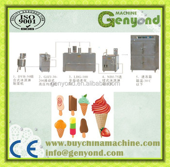 Automatic Popsicle Production Line / Ice Cream Processing Plant ...