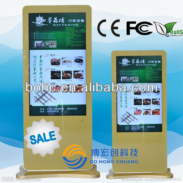 46inch built in computer lcd display kiosk stand