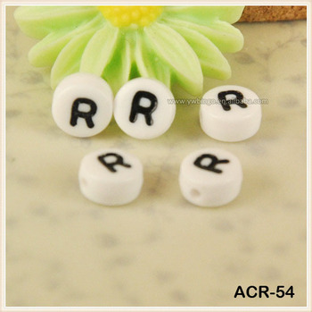Acrylic Alphabet Letter Beads Quot R Beautiful Letters