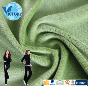 Imitation Cotton Velour 100 Polyester Knit Fabric Velvet chiffon Fabric