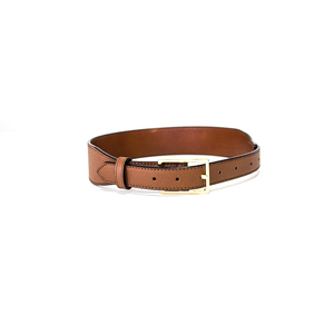 2018 New design leisure business pin buckle genuine leather belt for men