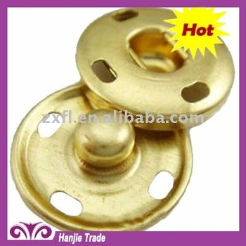 Wholesale Round Gold Sew-on Snap Fastener For Clothing