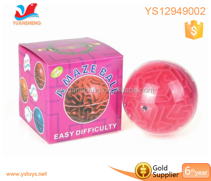 Popular 4 inch intellect ball Educational magical maze 3D Intellect Puzzle Ball