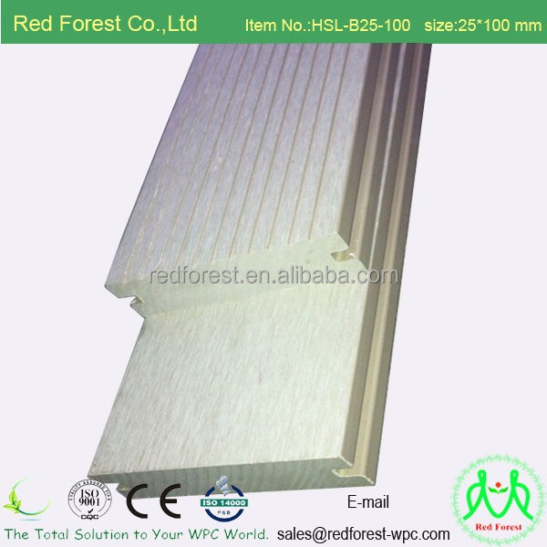 CE ISO Intertek Rohs SGS ASTM approved decoration artificial floor lhollow solid type WPC deck