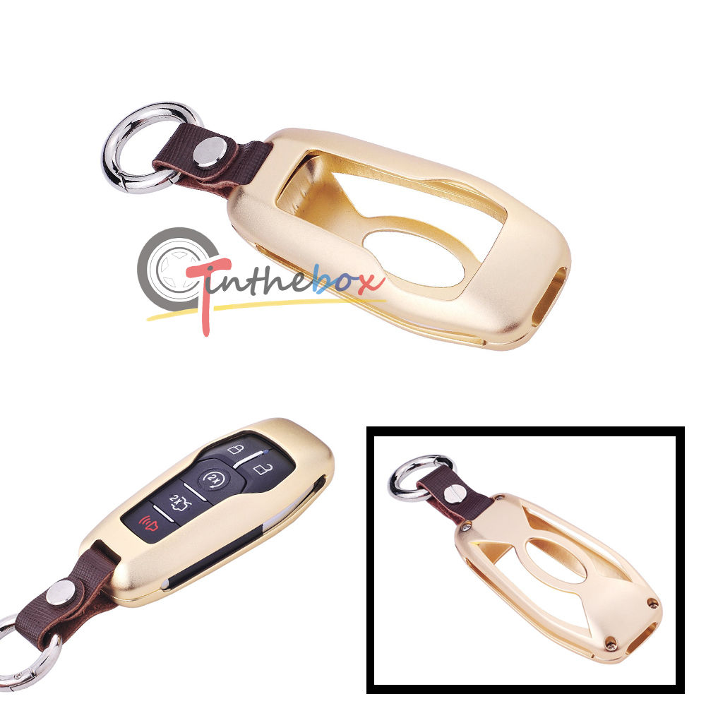 Gold Aluminum Remote Key Fob Shell Cover For Ford Mustang Explorer Taurus F-150
