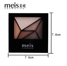 Cosmetica professionele Shimmer Make matt eyeshadow palette permanente Glitter make-up 6 Kleuren Oogschaduw <span class=keywords><strong>Palet</strong></span>