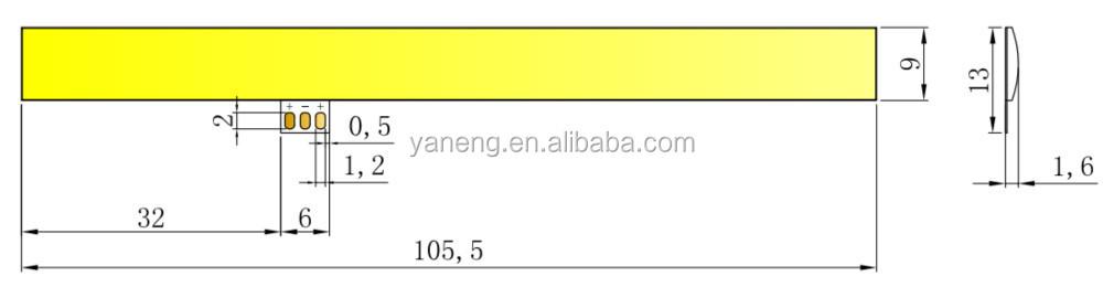Ingan Chip Material Flexible Cob Led Linear Cob 3w 3v Led Chip ...