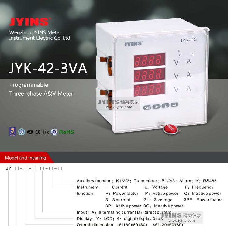 120*120mm Three Phase Dc Volt Amp Meter Panel Meter Dc Ac ...