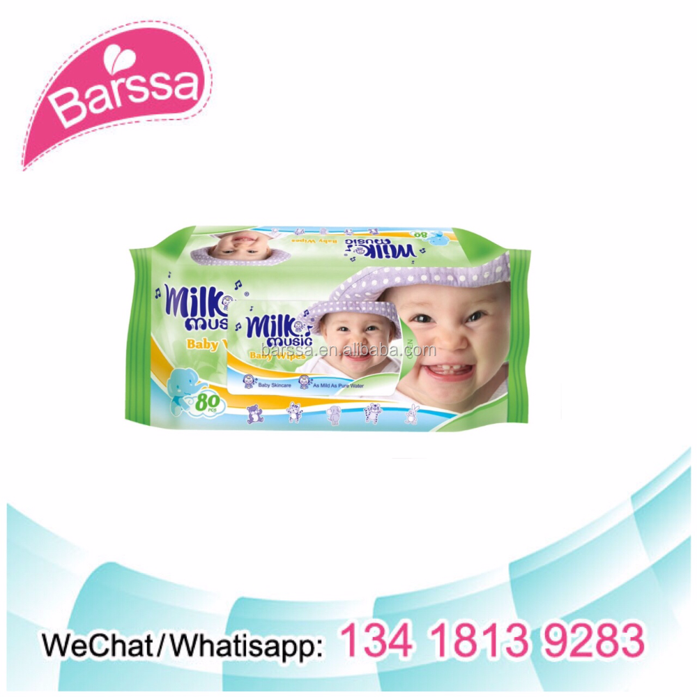 Milk music baby wet wipes disposable pet wipe toilet roll wet wipes for baby cleaning