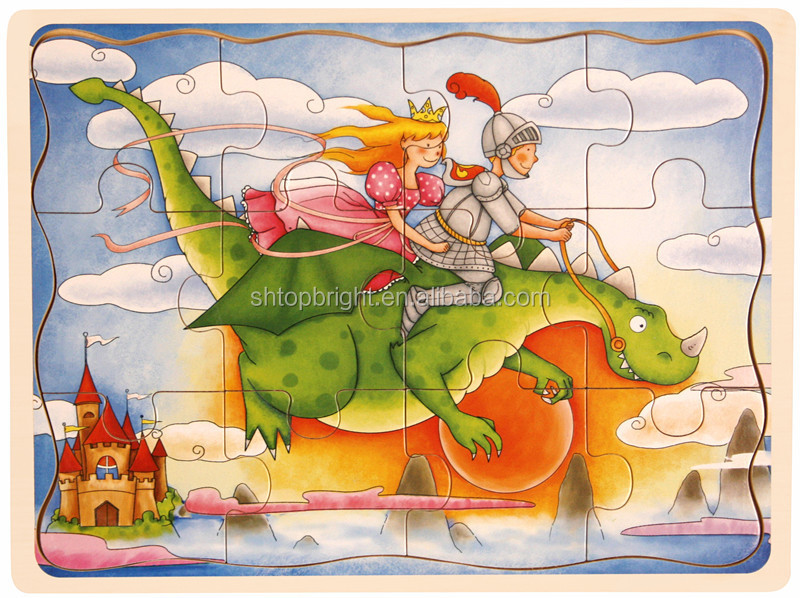 Look! Prince And Princess Cartoon Wooden Toy Wholesale Jigsaw ...