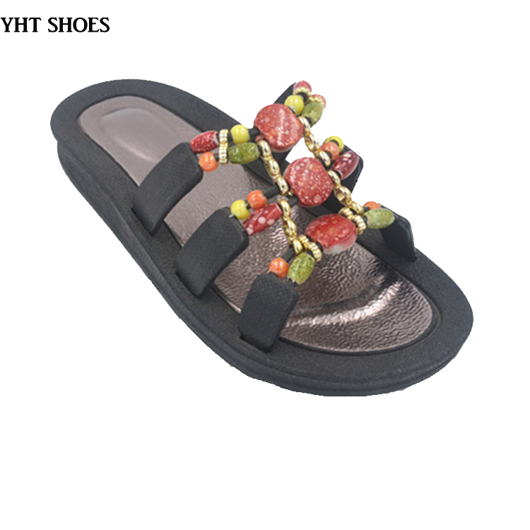 2018 unisex black stylish jelly shoes plastic comfortable casual sandals