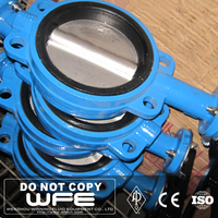 WFE Carbon Steel Lug Wafer Type Pneumatic Actuator 100% test alloy butterfly valve
