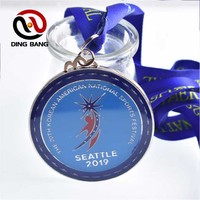 High Quality Promotion Cheap Items Custom Made 3D Collectable Souvenir University Running Race Award Sliver Medal