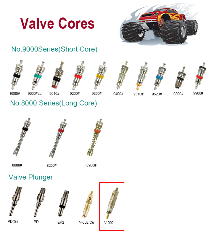 V-002  Tire Valve Stem Core Tire Valve Plunger Core