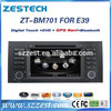 ZESTECH 7 inch HD touch screen car dvd for BMW 5 series E39 with GPS BT DVD steering wheel control