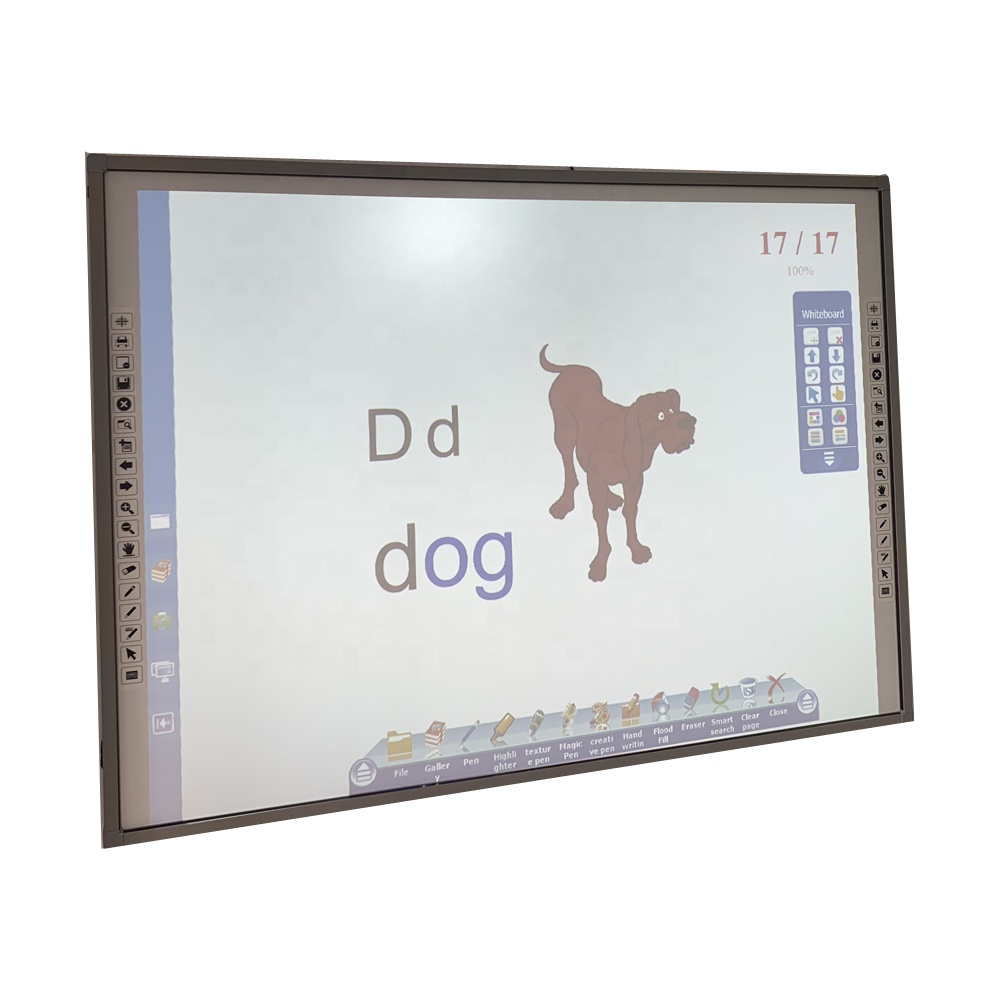 Customized Chalkboards Floor Stand Smart Interactive White Board