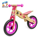 Wholesale hot sale wooden pink balance bicycle for children used in home and outdoor W16C094