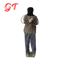 halloween life size electrocuted motion sensor foot pad animated props