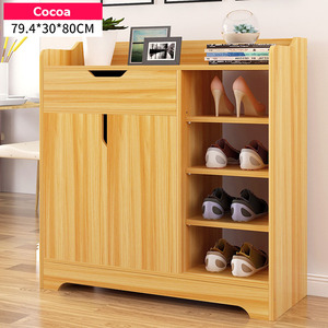 New 2 Door 1 Drawer Cupboard Shoe Storage Cabinet Wooden Sideboard Footwear Rack Stand Home